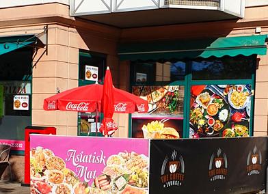 Restaurang med livsmedelsbutik